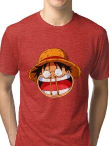 Luffy sticks! Tri-blend T-Shirt