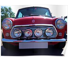 Vintage red Mini Poster