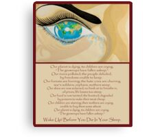 Wake Up Before You Die In Your Sleep With Poetry Poster Canvas Print