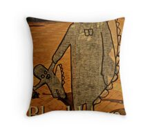 dinosaurs day out  Throw Pillow