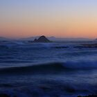Soft sunset over Cook Strait, New Zealand by Duncan Cunningham