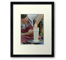 Building a Clay Tower - Potter, Homestead, Tx. Framed Print