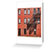 Tenement facade Greeting Card