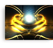 Blue Sphere Sun Canvas Print