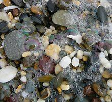 Beach Pebbles After A Storm by aussiebushstick
