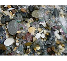 Beach Pebbles After A Storm Photographic Print