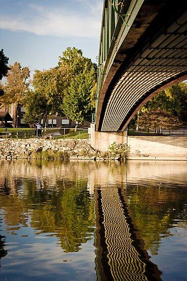 MLK Bridge, Monroe MI by eikenberry
