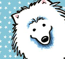 American Eskimo Dog Seeing Stars by offleashart