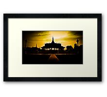 Cambodia: Sunset Temple Framed Print