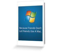 Windows Poster Greeting Card