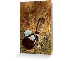 Blue Wren Greeting Card