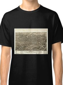 Panoramic Maps view of the city of Akron Summit County Ohio 1882 Classic T-Shirt
