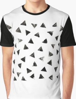 Handpainted Stamped triangles Graphic T-Shirt