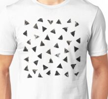 Handpainted Stamped triangles Unisex T-Shirt
