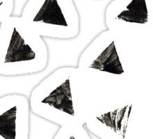 Handpainted Stamped triangles Sticker