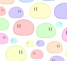 Dango | Black & Color Background Edition Sticker