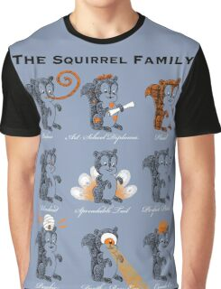 The Squirrel Family Graphic T-Shirt