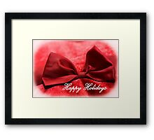 Happy Holidays Red Bow 1 Framed Print