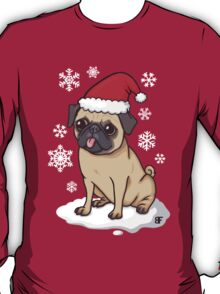 Christmas Pug (red) T-Shirt