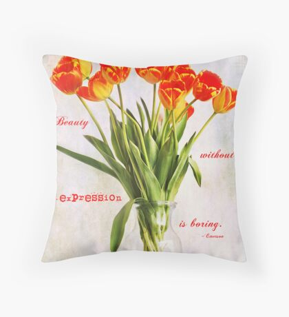 Beauty in Expression Throw Pillow