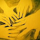 family hands portrait by evon ski