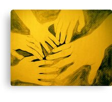 family hands portrait Canvas Print