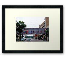 Colorful Crosswalk, Art District, Lincoln Nebraska Framed Print