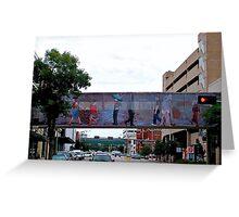 Colorful Crosswalk, Art District, Lincoln Nebraska Greeting Card