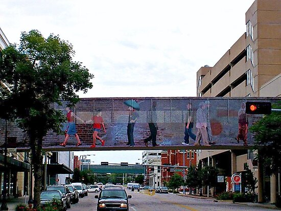 Colorful Crosswalk, Art District, Lincoln Nebraska by Jane Neill-Hancock