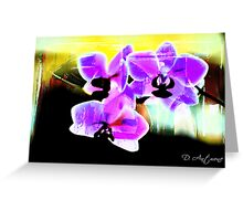 Purp Rays Greeting Card