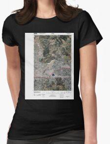 USGS Topo Map Washington State WA Spokane NE 20110503 TM Womens Fitted T-Shirt