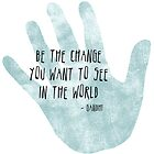 Be the Change Hand by pencreations