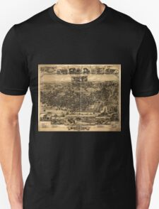Panoramic Maps The city of Chester Pennsylvania 1885 Unisex T-Shirt