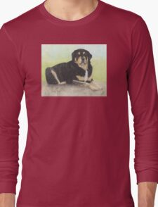 Rottweiler Dog Animal Cathy Peek Pets Long Sleeve T-Shirt