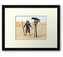 End of the Journey surreal pen ink color pencil drawing Framed Print