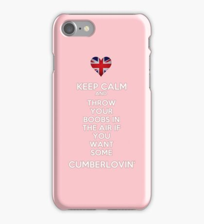 Keep Calm and Throw Your Boobs In The Air If . . . iPhone Case/Skin