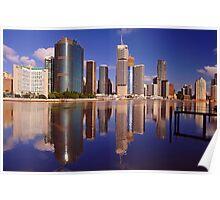 Brisbane City & River. Queensland, Australia. (2) Poster