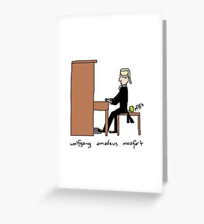 Wolfgang Amadeus Mozfart Greeting Card