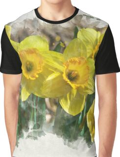 Daffodil Watercolor Graphic T-Shirt