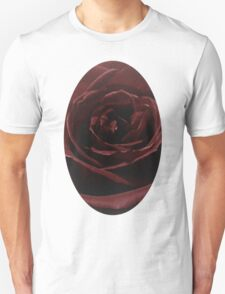 Textured Red Rose T-Shirt