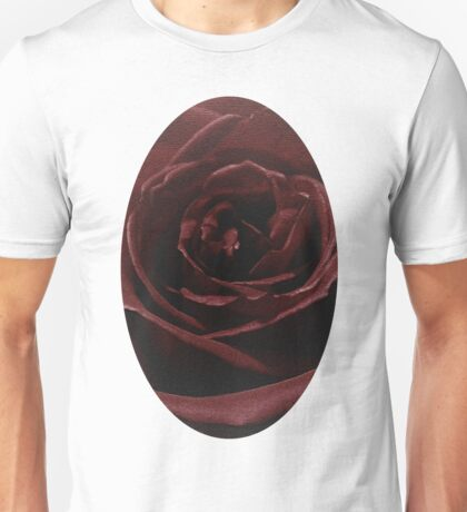 Textured Red Rose Unisex T-Shirt