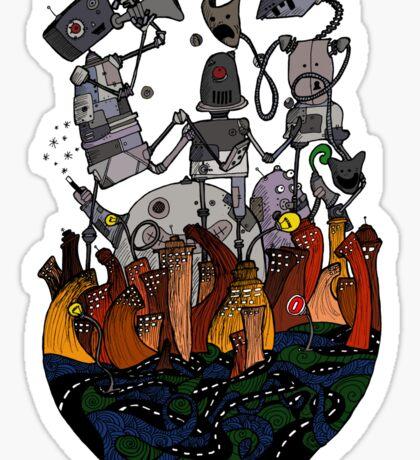 Big robots Sticker