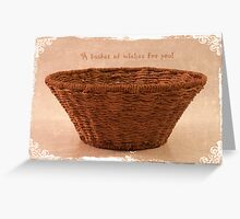 Woven Basket Greeting Card
