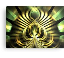 Gold Leaf Lotus Metal Print