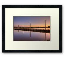 Dockset Framed Print