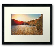 Sunset at the Lake Framed Print
