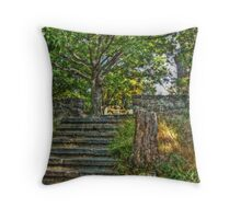 The Path to Lambert Castle Lookout Tower Throw Pillow
