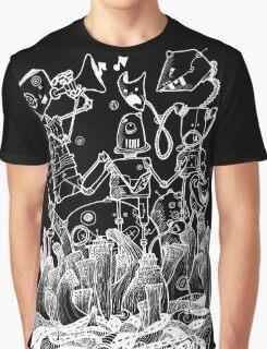 White robots Graphic T-Shirt