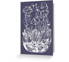 White robots Greeting Card