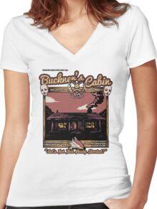 Buckner's Cabin Women's Fitted V-Neck T-Shirt